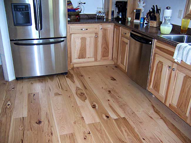 Hickory Flooring In Jasons Kitchen