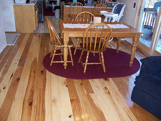 Great lakes lumber company past projects 5 inch wide plank rustic hickory flooring with high gloss finish tyukafo